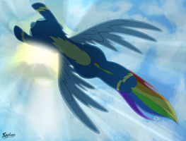 Rainbow Flies by FluffyXai