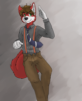 Curly husky by afoxen