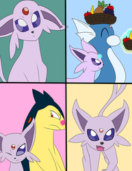 Commission: Burrito the Espeon, Heart of the Team by NeonBotNB