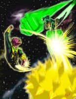 Green Lantern VS Sinestro by ArtistAbe