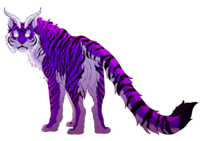 Purple Tiger Is Amazing Tiger by blueharuka