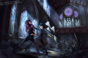 Commission- Dispute in Sanctuary by ARSONicARTZ
