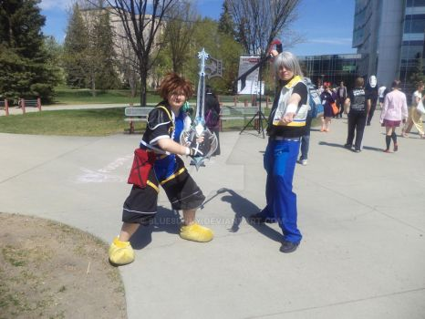 Sora and Riku by 8lue8unny