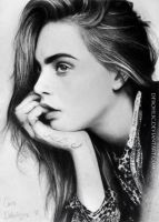 Cara Delevingne (Graphite Pencil) by DFrohlic