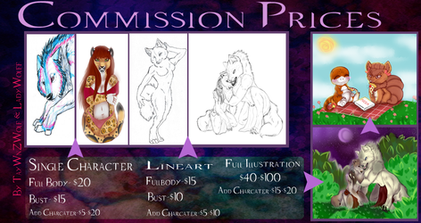 Commission Price Sheet by Lupus-Daemon