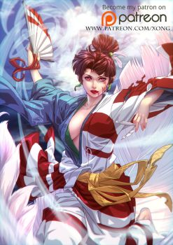 Kagura of the wind by xong