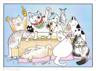 another Sushi cats birthday card by Reptangle