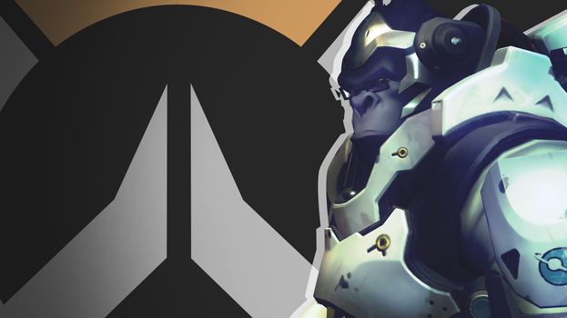 Overwatch Side Profile Wallpaper -  Winston by PT-Desu