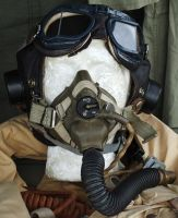 WW2 Flight Mask and Goggles by fuguestock