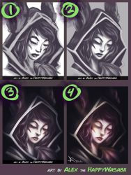 StepByStep Xayah by HappyWasabii