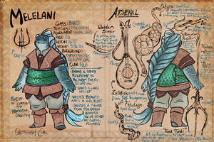 DND Character Ref: Melelani by ghostfiish