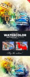 Watercolor Soft Painting Photoshop Action by Kluzya