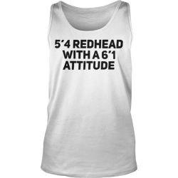 54 redhead with a6 attitude shirt by yourteeshirtss