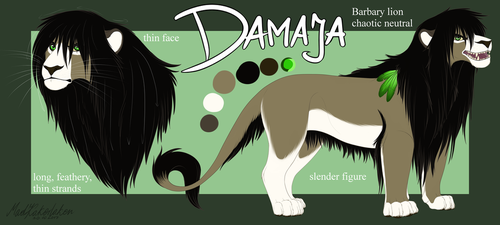 Damaja - Character Sheet by MadKakerlaken