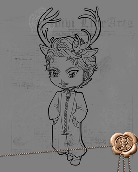 Deer - Rego step by step coloring tutorial by Chibivi-Linearts