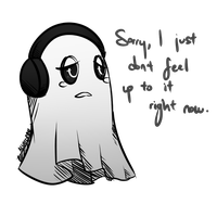 UNDERTALE | Napstablook by crowmulent