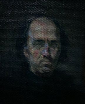 tiny portrait in oil -alla prima by facetheface