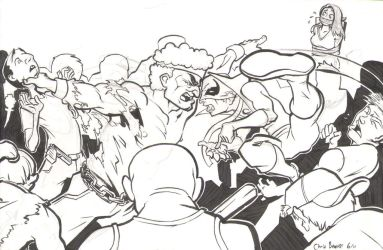 Powerman And Iron Fist--Inks by chrisbeaver
