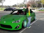 Makoto and her Scion FR-S by Mikey186