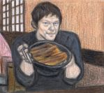 Norman Reedus eating eel and rice by gagambo