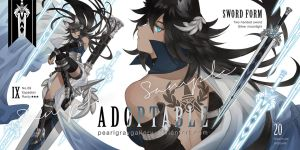 [AB added] [ADOPTABLE] Espadian No.09 [CLOSED] by Pearlgraygallery