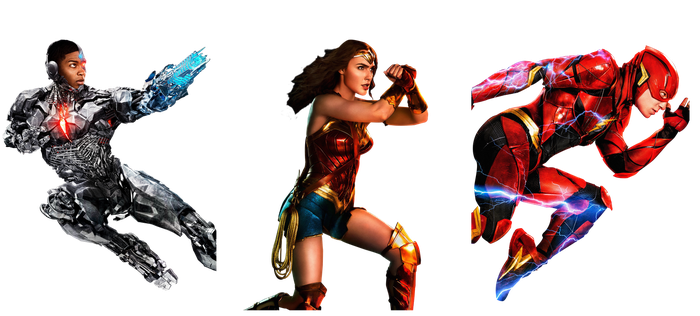 Justice League: Cyborg, Wonder Woman, and Flash by StormVi
