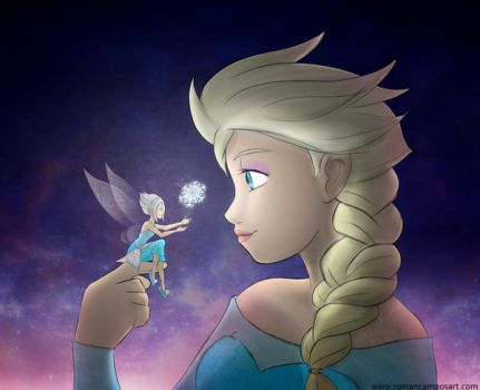 Elsa and Periwinkle by mell0w-m1nded