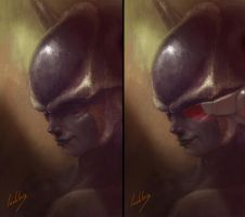 Frieza First Form concept by JulienLasbleiz