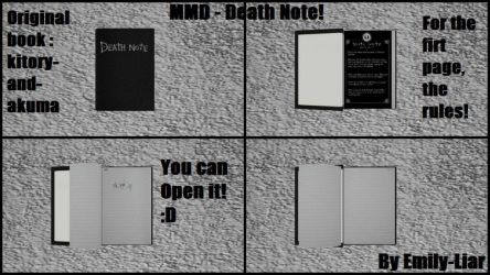 [MMD] Death Note Book - DL! by Emily-Liar