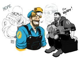 Cute bearded Engie by KRedous