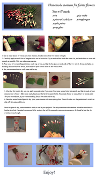 Tutorial: Homemade Stamens for Kanzashi by EruwaedhielElleth