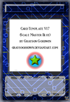 Yu-Gi-Oh! Card Template V16 (Scale Master Blue) by GraysoGoodwn
