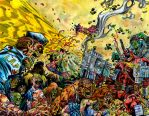 Deadpool Vs Zombie Apocalypse - WAR - Egli - Color by SurfTiki
