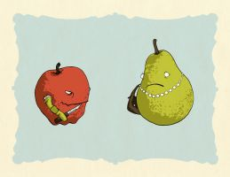 When Apples Go Bad by robot-uprising