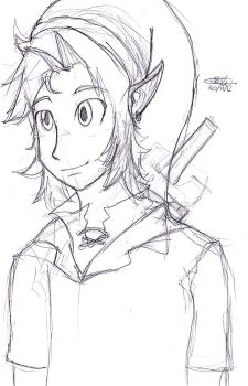 Link sketch by Checkerthehedgehog