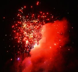 Red Fireworks by annehawholt