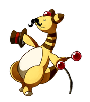 (Charity Collab) - Fancy Ampharos by LazyAmphy