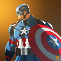 Captain America Sketch by PhotoshopIsMyKung-Fu