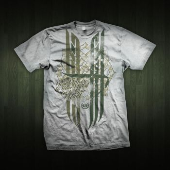 Hold Money White tee Arabic calligraphy by omarnejai