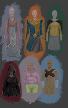 Clothes Study 6 : again with the fantasy stuff by pixg