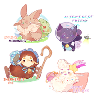 [ closed ] Fat Caterpillar Babies by riskins
