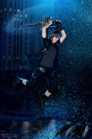 Final Fantasy XV - Noctis - Fight by Krisild