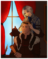 DAO: Duty Calls {Alistair/Amell} [Commission] by LadyTheirin