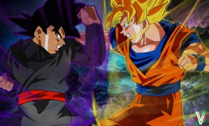 Black Vs Goku by ElvtrKai