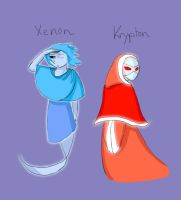 Xenon and Krypton by TheClockworkKid