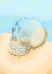 Glass Skull Boi by MosquitoDrawsNStuff