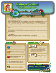 My Resume - because it's funny by ValliantCreations