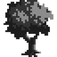 Pixel Tree - Values Monochrome by papercrownprincess