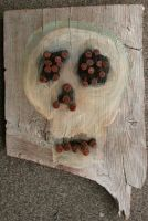 Skull 4 with Rusty Nails by rosswright