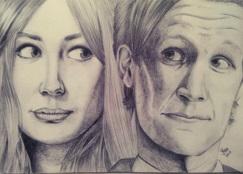 The Doctor and Amy Pond by soninovakova